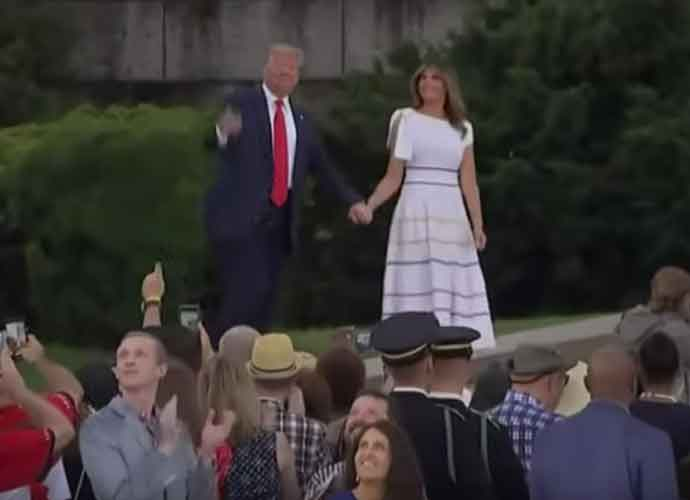 Bra-less First Lady Melania Trump Shocks Country At Fourth of July Celebration With See-Through Dress