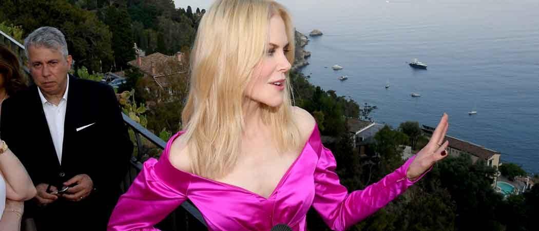 Nicole Kidman Stuns In Hot Pink At 65th Annual Taormina Film Festival