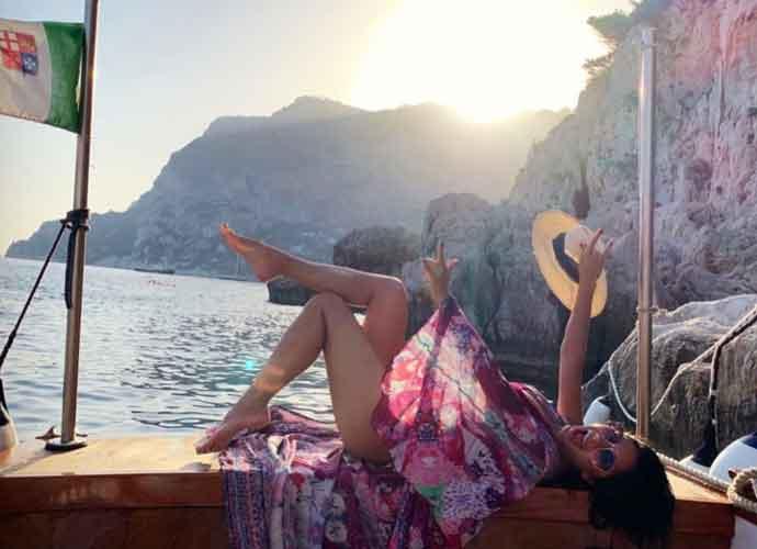 Nicole Scherzinger Lays Out For Sunset On Italy's Amalfi Coast