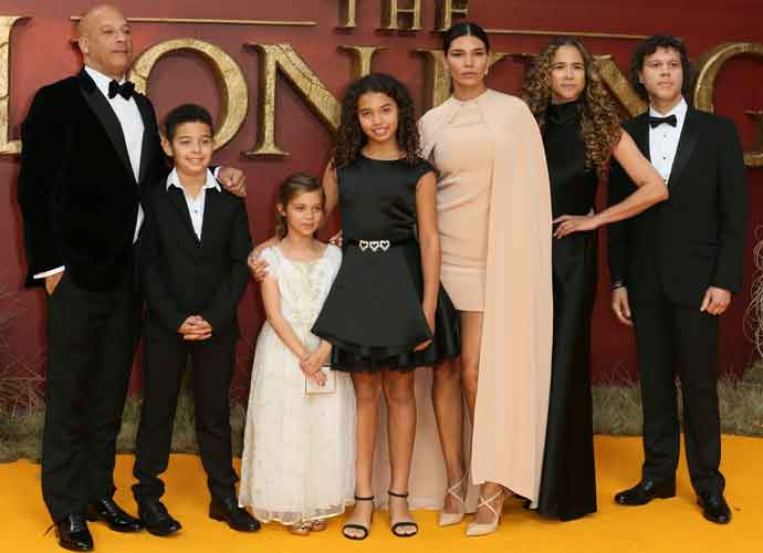 Vin Diesel Attends London Premiere Of 'Lion King' With Partner Paloma Jimenez & Kids Hania, Vincent & Pauline