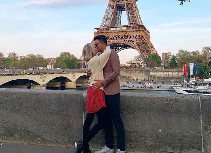 Candice King Kisses Husband Joe King Under Eiffel Tower