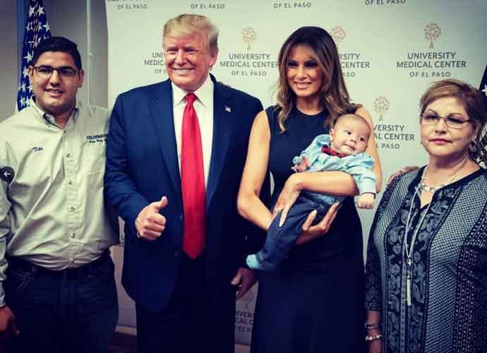 Donald & Melania Trump's 'Thumbs Up' Photo With Baby Orphan Paul Anchondo From El Paso Shooting Slammed On Social Media