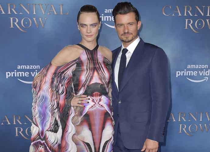 Orlando Bloom & Cara Delevingne Attend L.A. Premiere Of Amazon's 'Carnival Row'