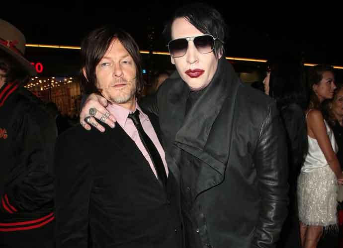 Norman Reedus & Marilyn Manson Attend 'The Walking Dead' Screening
