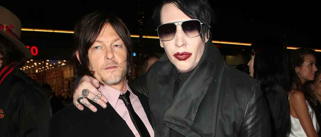 Norman Reedus & Marilyn Manson Attend 'The Walking Dead' Screening