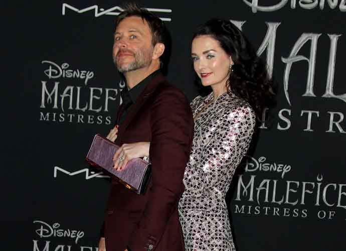Chris Hardwick & Lydia Hearst Attend World Premiere Of Disney's 'Maleficent: Mistress Of Evil'