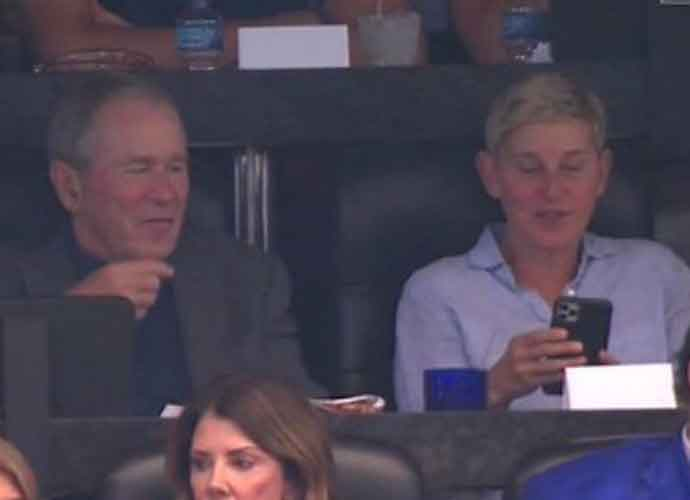 Fans Upset That Ellen DeGeneres Sat With George W. Bush At Cowboys Game