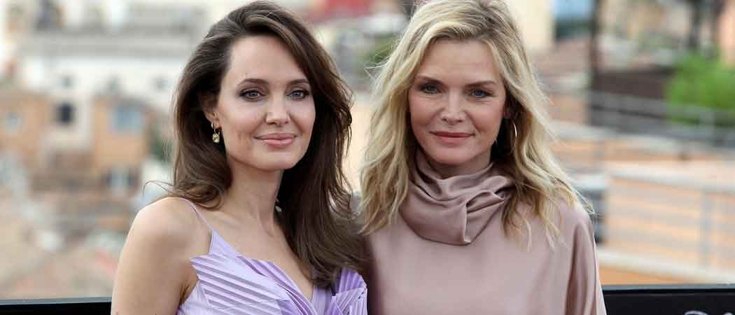 Angelina Jolie & Michelle Pfeiffer Attend 'Maleficent' Photocall In Rome