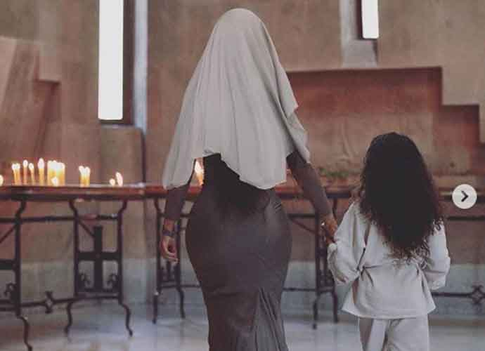 Kim Kardashian And Children Are Baptized In Armenian Cathedral