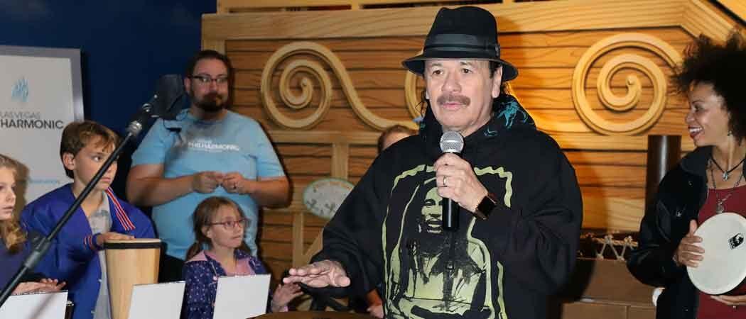 Carlos Santana & Cindy Blackman Santana Visit Discovery Children's Museum In Las Vegas