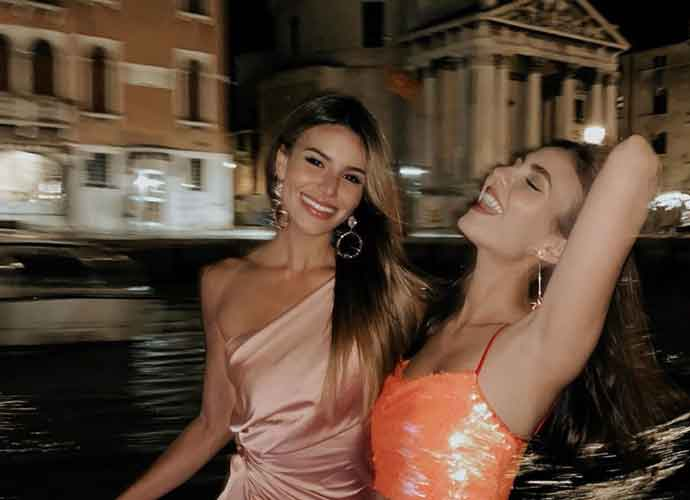 Victoria Justice Relaxes In Venice With Sister Madison Grace Justice