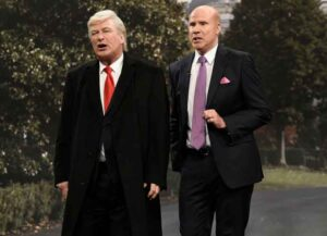 Saturday Night Lives's Cold Open Spoofs Will Farrell's Sondland Confronting Alec Baldwin's Trump