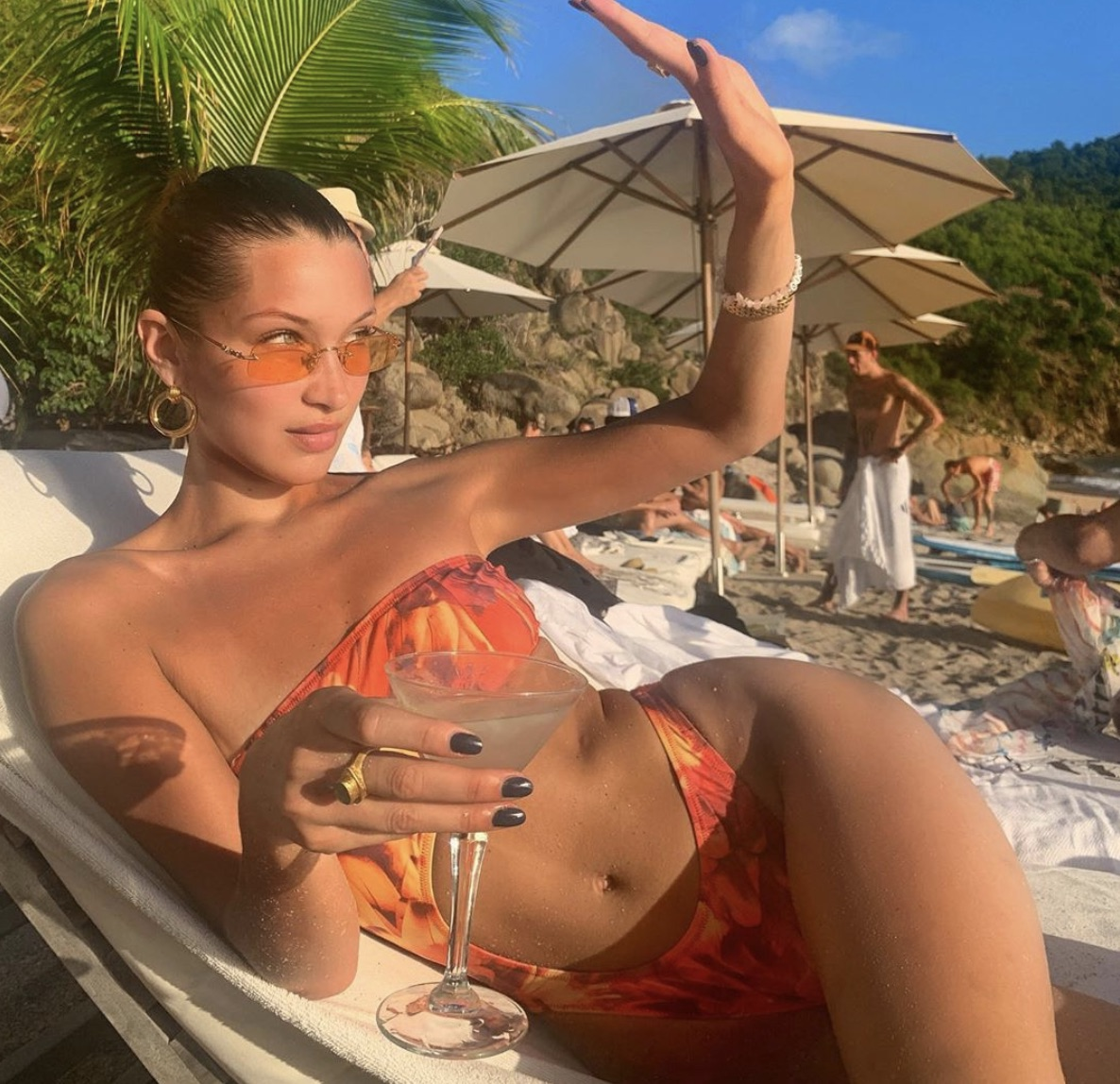 Bella Hadid & Kendall Jenner Strip To Down Bikinis In St. Barts
