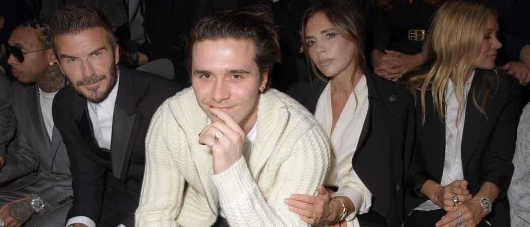David, Victoria & Brooklyn Beckham Sit Front Row At Dior Homme Show