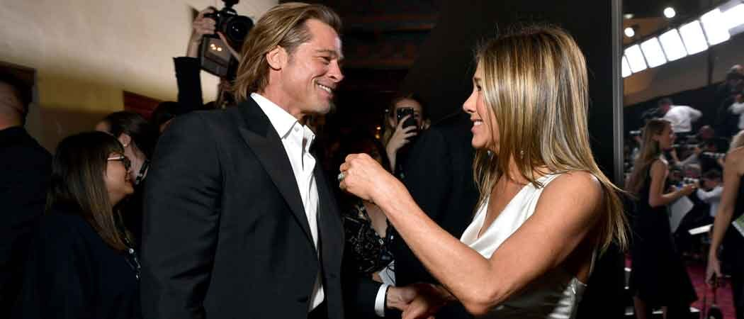 Brad Pitt & Jennifer Anniston Hold Hands After SAG Award Wins, Pitt Jokes About Marriage [Photos]
