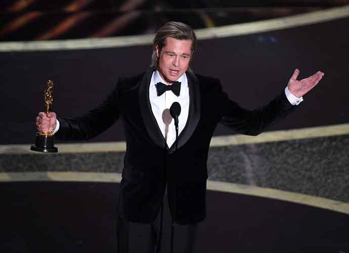 Brad Pitt Calls Out GOP Senators For Blocking John Bolton In Oscars' Acceptance Speech