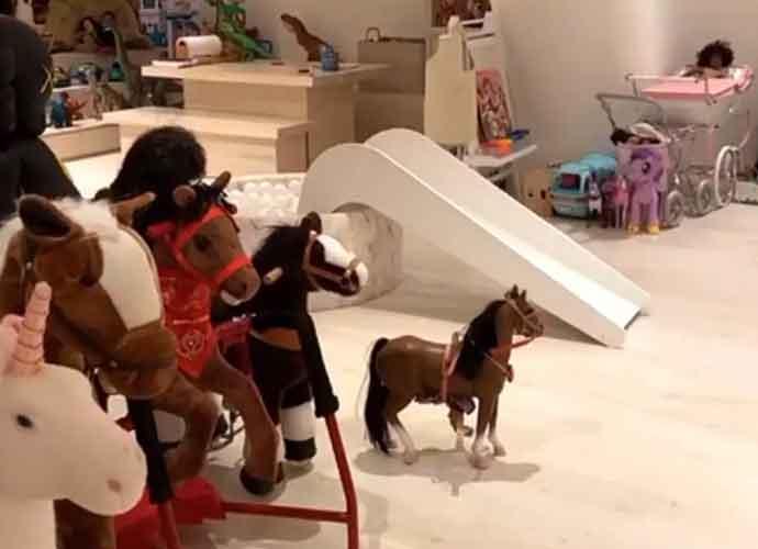 Kim Kardashian Shares Video Of Her Kids' Huge Multimillion-Dollar Playroom