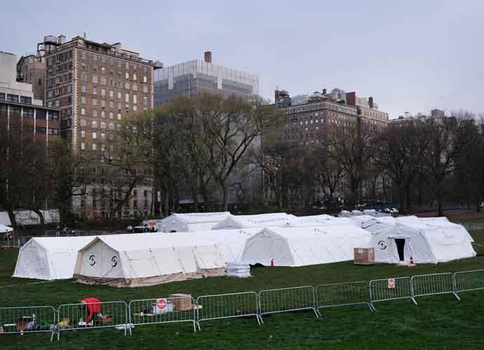 Field Hospital Setup In Central Park As Coronavirus Pandemic Grips New York