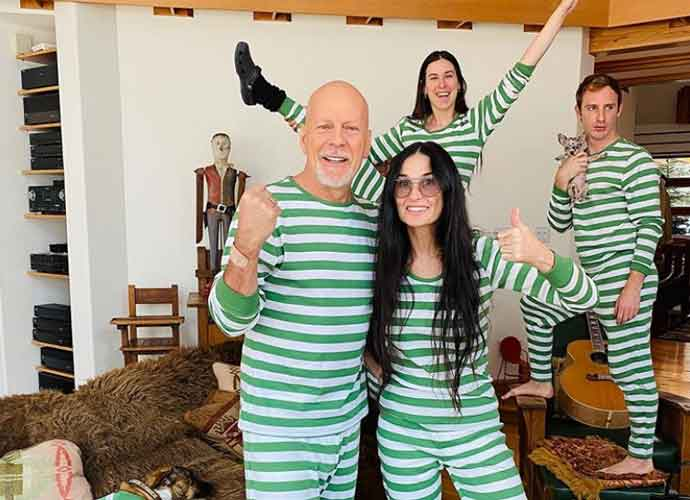 Bruce Willis Isolates With Ex Demi Moore & Kids Without Wife Emma Heming