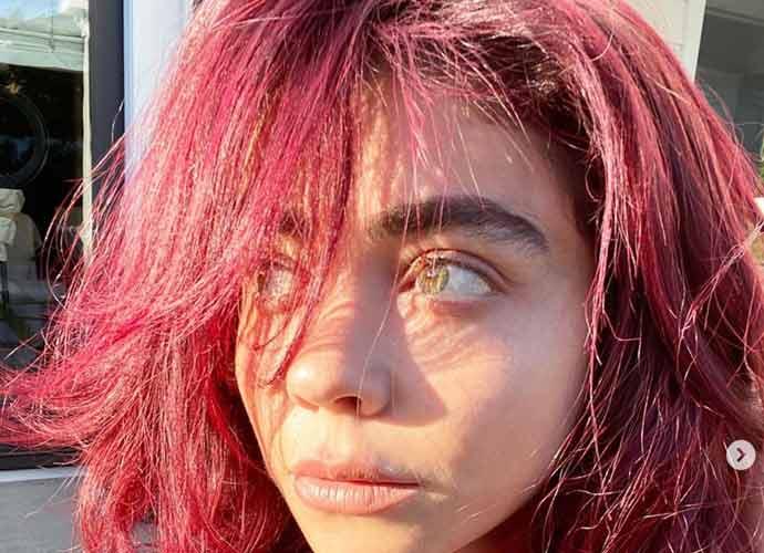 Sarah Hyland & Julianne Hough Reveal New Pink Hair For COVID-19 Quarantine [Photos]