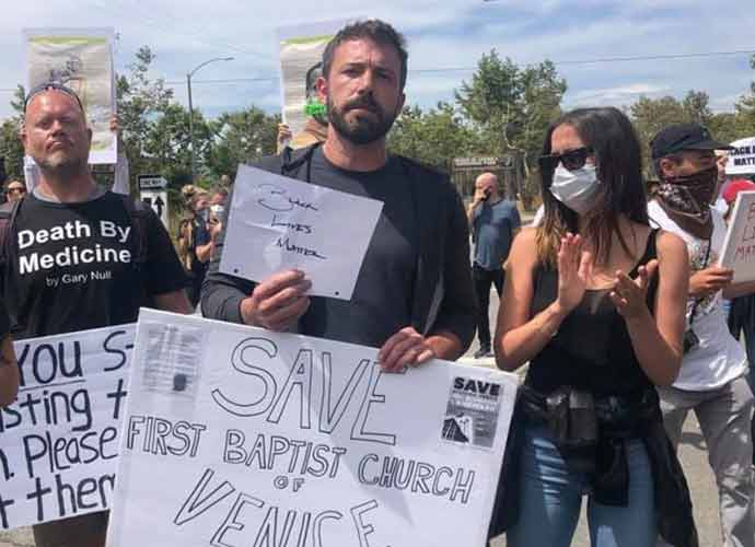 Ben Affleck & Girlfriend Ana De Armas March In L.A. Black Lives Matter Protests