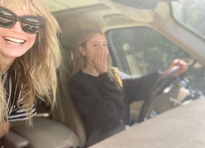 Hedi Klum's 16-Year-Old Daughter, Leni, Learns To Drive!