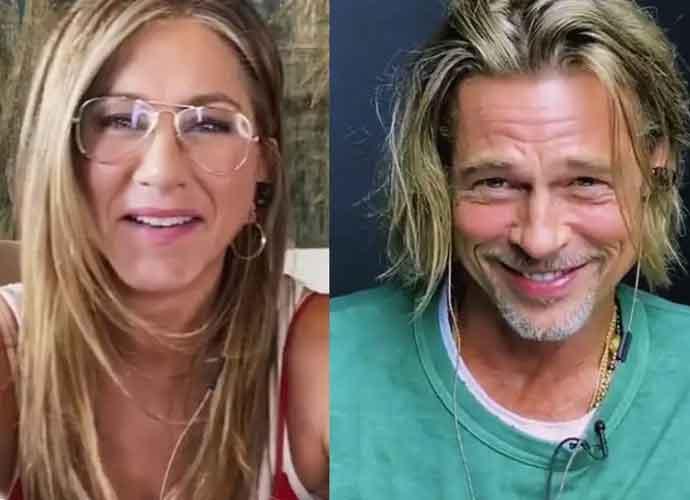 WATCH: Exes Brad Pitt & Jennifer Aniston Get Flirty During 'Fast Times At Ridgemont High' Reading