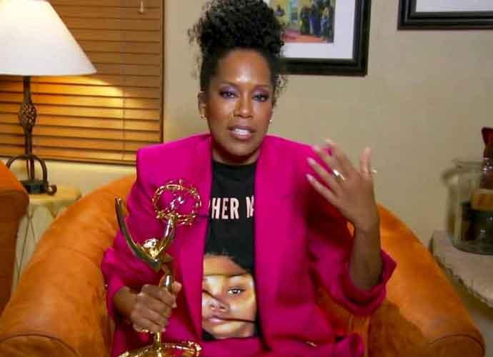 "Regina King Accepts Emmy Wearing ""Say Her Name"" Breonna Taylor Shirt"