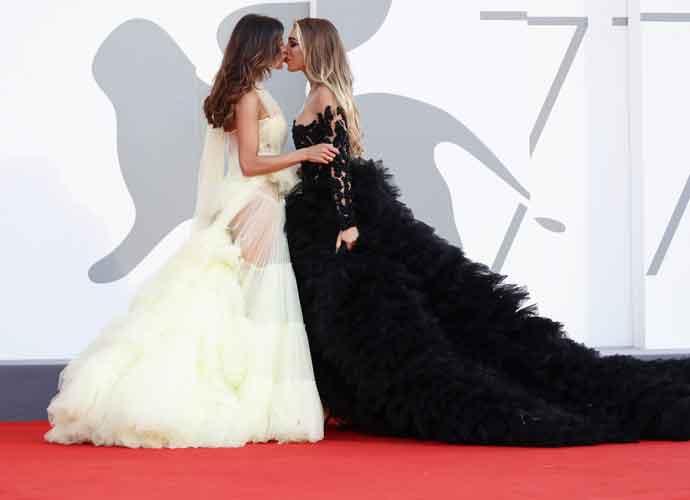Mila Suarez & Elisa De Panicis Share Kiss On Venice Film Festival Red Carpet
