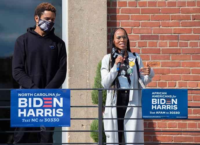 Kerry Washington & Husband Nnamdi Asomugha Campaign For Joe Biden In North Carolina