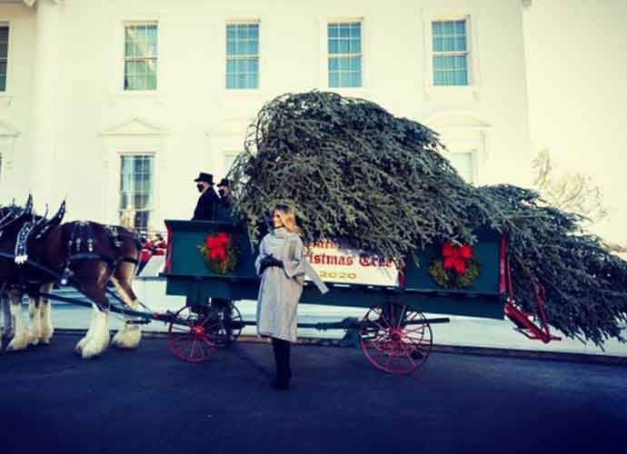 Melania Trump Mocked For White House Christmas Tree Reveal After Anti-Christmas Comments