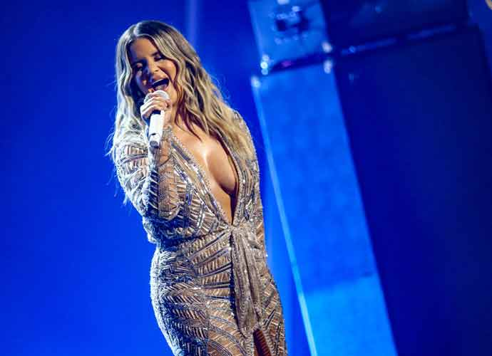 Maren Morris Sparkles In Cleavage-Baring Dress At CMA Awards