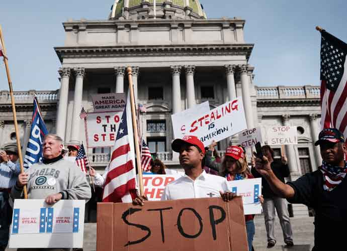 Trump Supporters Protest To 'Stop The Count' Outside State Capitol