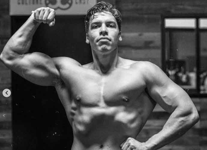 Joseph Baena Poses Like Father Arnold Schwarzenegger In Shirtless Video