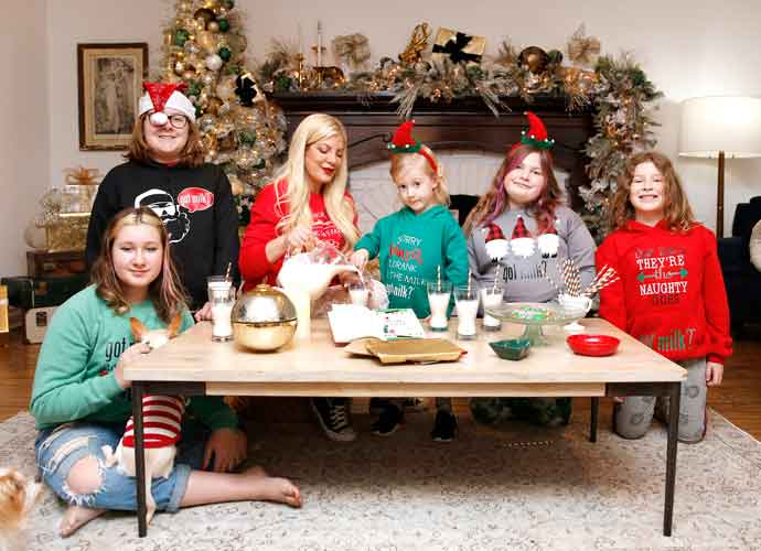 Tori Spelling Celebrates The Holiday Season With Her Family