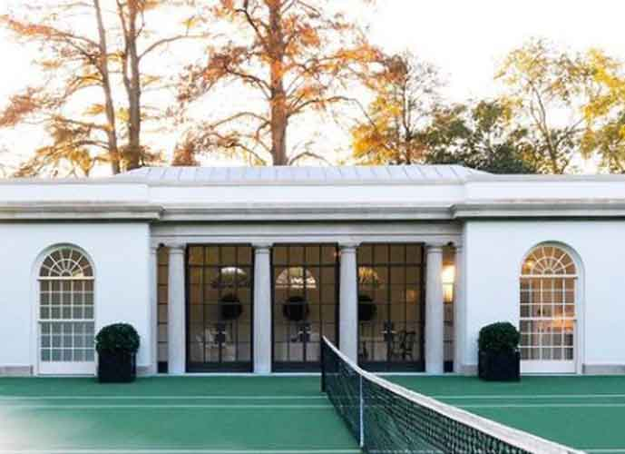 First Lady Melania Trump Reveals New Tennis Pavilion At The White House
