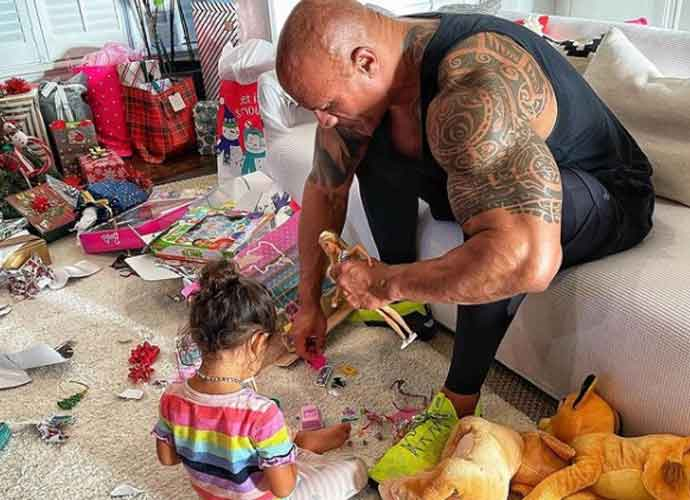 Dwayne Johnson Plays With Barbies On Christmas With His Daughter, Tiana Johnson