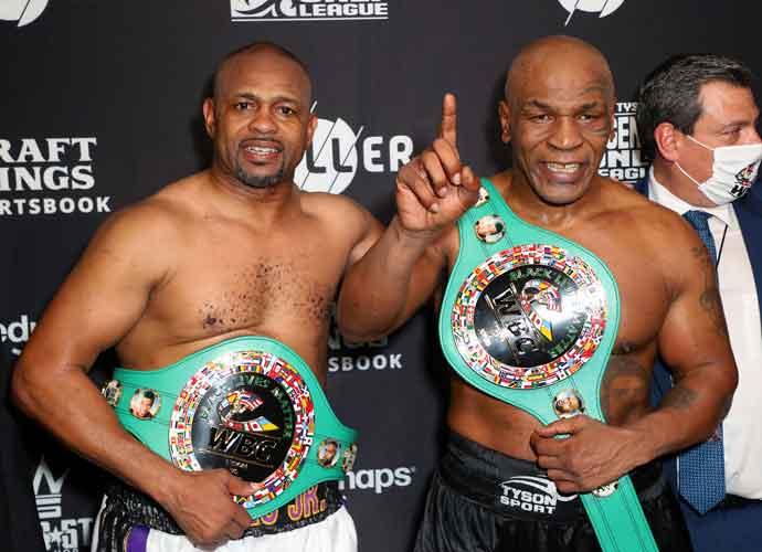 Mike Tyson & Roy Jones Jr. Celebrate Split Draw