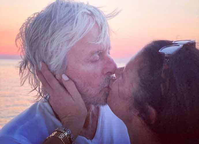 Catherine Zeta-Jones Kisses Michael Douglas In New  Photo On 20th Anniversary
