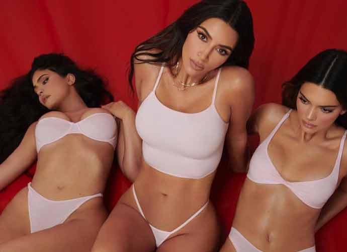 Kim Kardashian & Kylie & Kendall Jenner Pose In Underwear For New SKIMS Launch