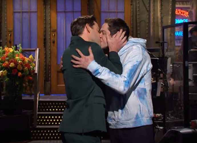 WATCH: John Krasinski Kisses Pete Davidson During 'Saturday Night Live' Monologue