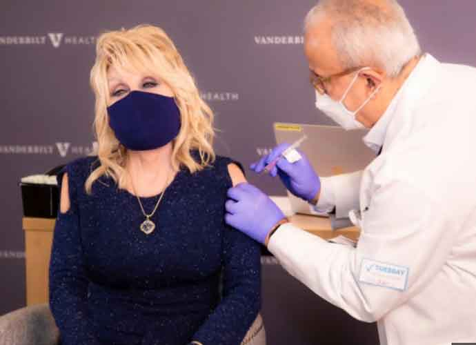 WATCH: Dolly Parton Receives Her First Dose Of COVID-19 Vaccine