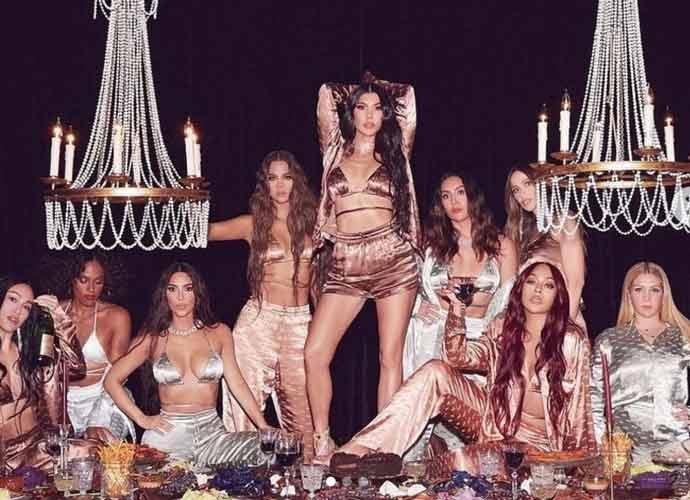 Kim Kardashian & Friends Poses New SKIMS Silk Pajamas