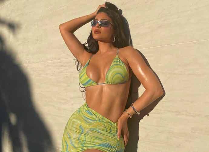 Kylie Jenner Shows Off Lime Green Bikini