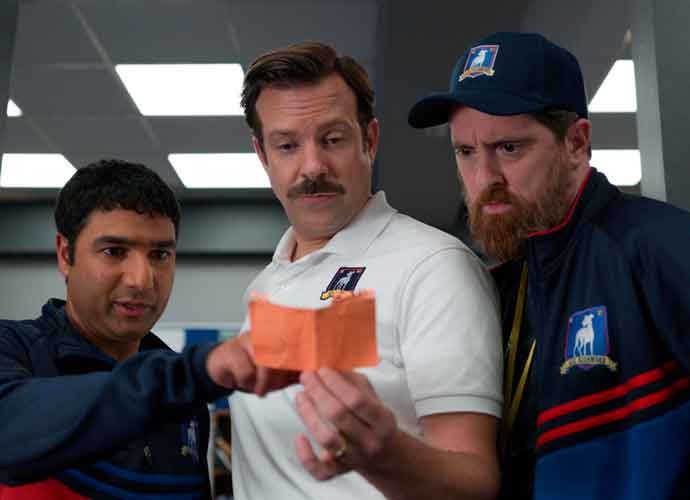 VIDEO EXCLUSIVE: Ted Lasso's Brendan Hunt & Nick Mohammed Defend Jason Sudekis' Golden Globes Hoodie