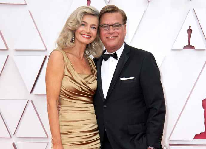 Aaron Sorkin & Paulina Porizkova Make Debut As Couple On Oscars Red Carpet
