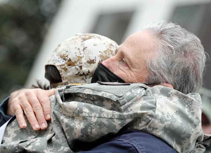 Jon Stewart Hugs Veterans Exposed To Burn Pits In Foreign Wars