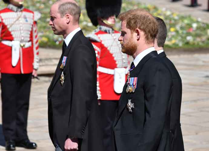 Prince Harry & Prince William Reunite At Prince Philip's Funeral