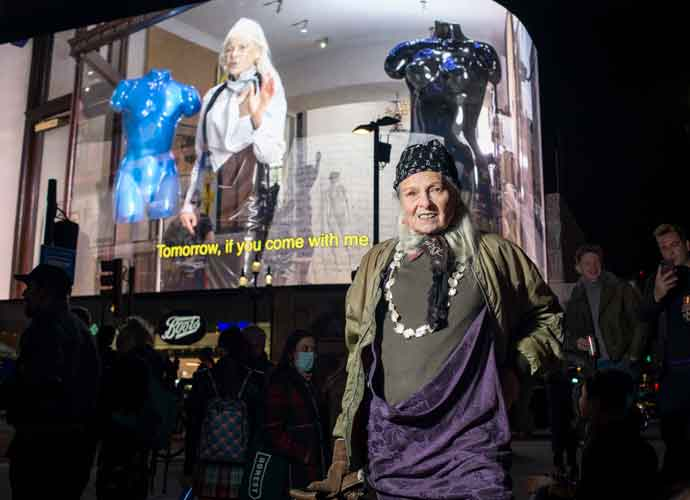 Vivienne Westwood Sends Political Message On Her 80th Birthday In Piccadilly Circus' Lights