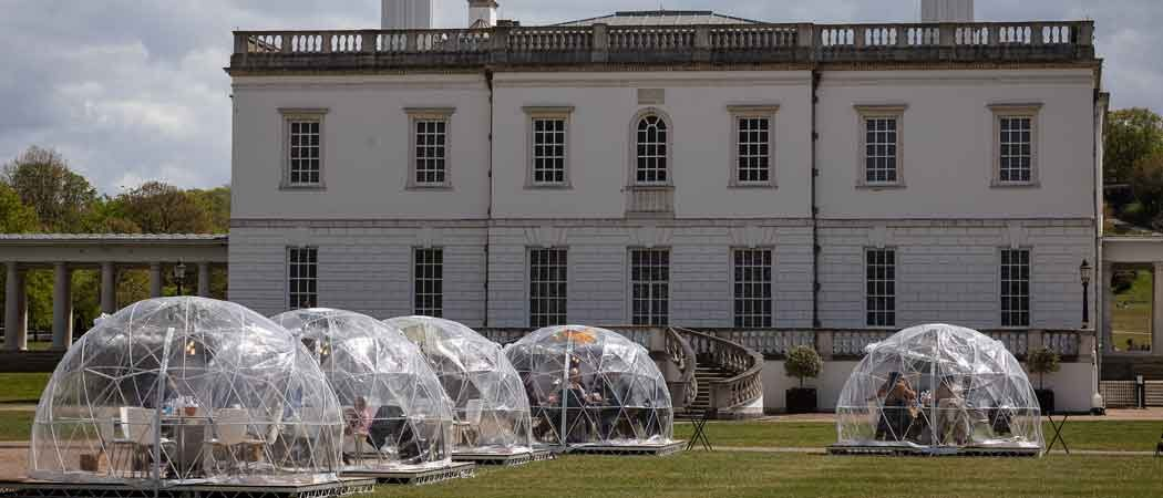 'Bridgerton' Filming Location Transformed Into Dining Domes Pop Up